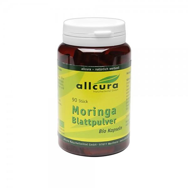 Moringa Blattpulver Kapseln Bio, 90 Stück