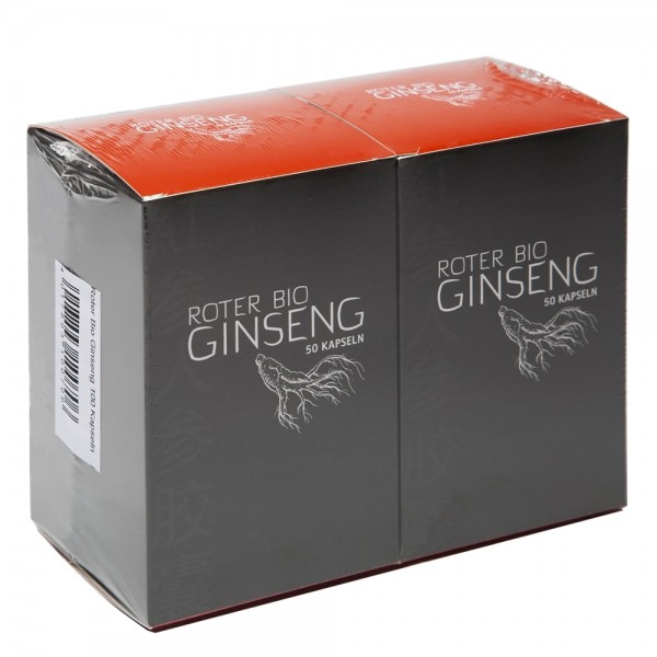 Roter Ginseng Bio Kapseln 100 Stück
