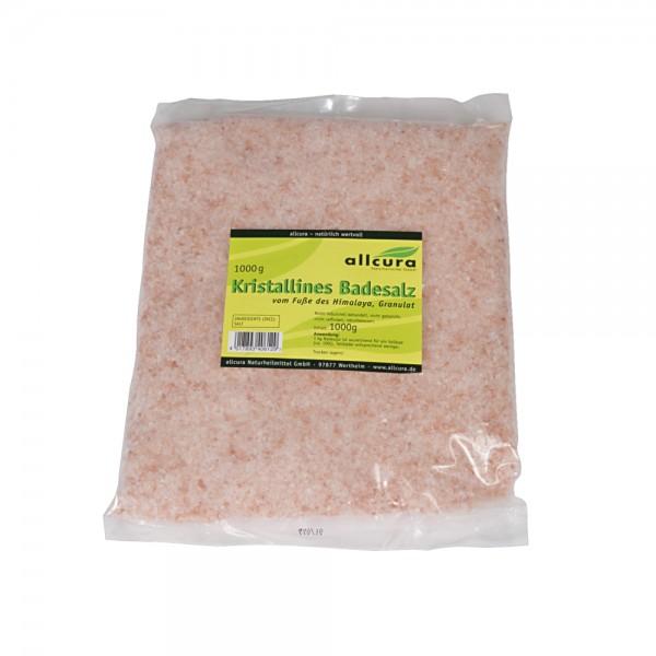 Kristallines Salz vom Fuße des Himalaya, Badesalz, 1 kg