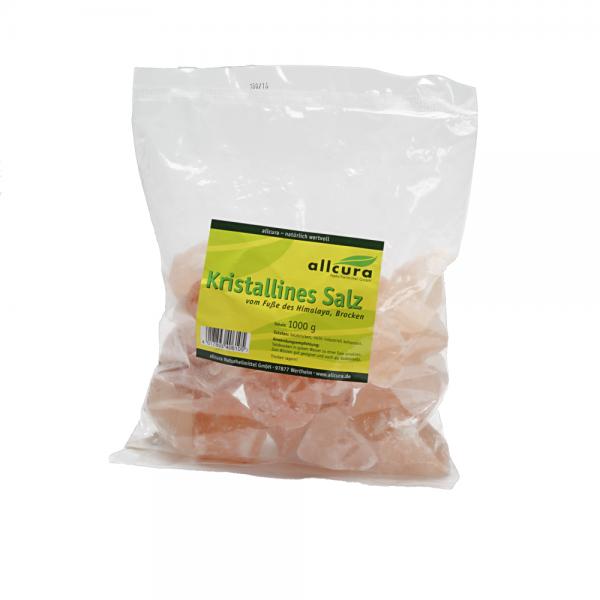 Kristallines Salz vom Fuße des Himalaya, Brocken, 1 kg