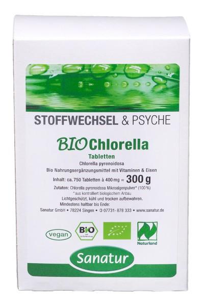 Chlorella BIO Tbl. 750 Stück Nachfüllpackung