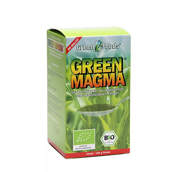 Green Magma Gerstengras Extr. 150 g Pulver Bio